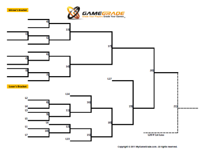 Printable 11 Team Bracket - Single Elimination Tournament