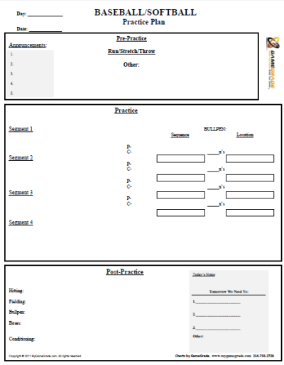 Baseball Practice Plan Template. awesome sample business ...