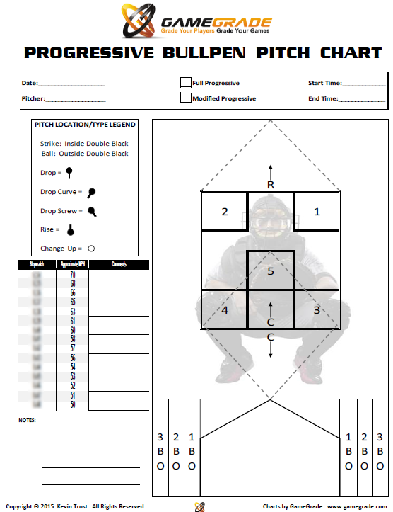 baseball pitching chart template - softball bullpen chart softball pitcher 39 s